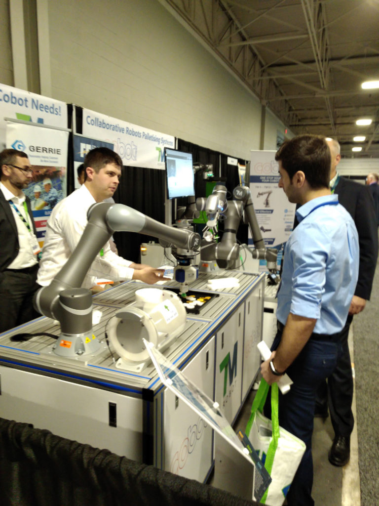Demonstration of Cobots in Toronto-ADM-Expo by Cobot Intel